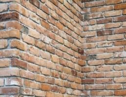 مدل دیوار آجری باگوشه ای ازبافت