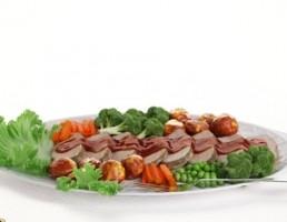 بشقاب + سالاد سبزیجات