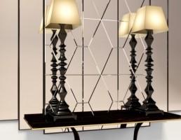 مدل کنسول با آینه و چراغ ها