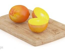 تخته برش + میوه خرمالو