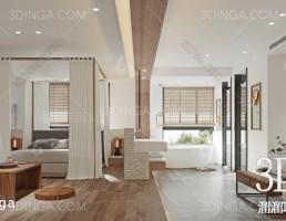 صحنه داخلی اتاق هتل سبک چینی