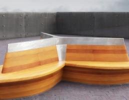 نیمکت چوبی فضای خارجی