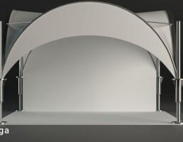 چادر مسافرتی با پایه فلزی