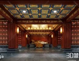 فضای داخلی معبد چینی