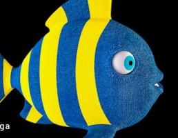 کوسن به شکل ماهی