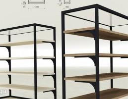 قفسه چوبی مدرن