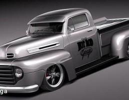آفرود مدل F1 Pickup Truck Hot Rod  سال 1950