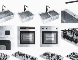 سینک ظرفشویی + گاز صفحه ایی + هود