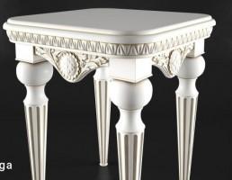 میز کنار مبلی چوبی