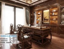 اتاق مطالعه سبک آسیایی