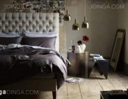 صحنه داخلی اتاق خواب سبک مدرن