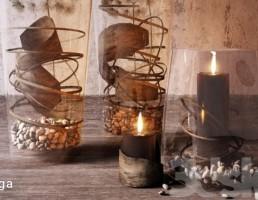 گلدان تزیینی + شمع
