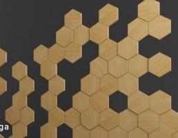 پانل دیواری به شکل لانه زنبور