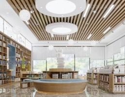 صحنه داخلی فروشگاه کتاب مدرن