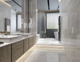 صحنه داخلی حمام و توالت مدرن 11
