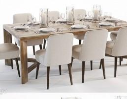 ست میز و صندلی نهارخوری + سرویس غذاخوری
