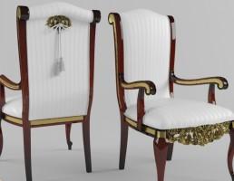 صندلی دسته دار کلاسیک