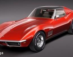 ماشین شورلت مدل کوروت  C3 سال 1969