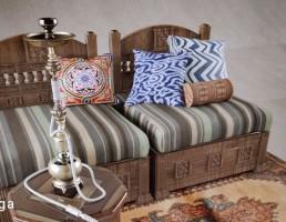 مبل راحتی + جلو مبلی عربی