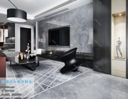 صحنه داخلی اتاق نشیمن سبک مدرن