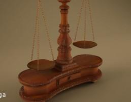 ترازوی عدالت تزیینی