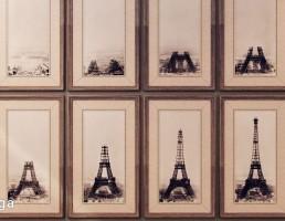 تابلویی از مراحل ساخت برج ایفل