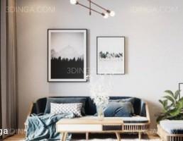 صحنه داخلی آپارتمان سبک اسکاندیناوی