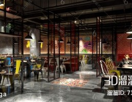 صحنه داخلی رستوران صنعتی