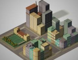 مجموعه 4 بلوک شهری