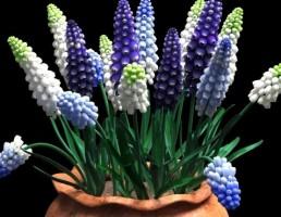 گلدان + گلهای بهاری