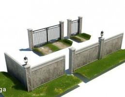 دیوار + دروازه توری فلزی