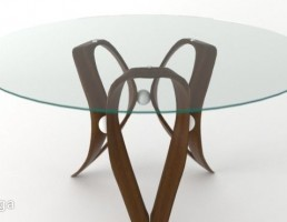 میز عسلی شیشه ایی