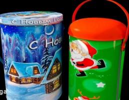 سطل های کوچک با طرح کریسمس