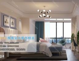 اتاق خواب سبک پست مدرن