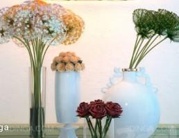 گل + گلدان+ چراغ