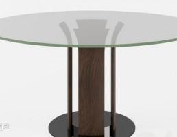 میز گرد شیشه ایی