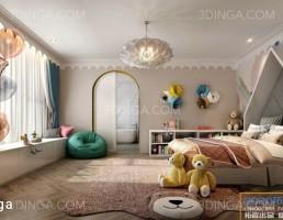 صحنه داخلی اتاق خواب کودک