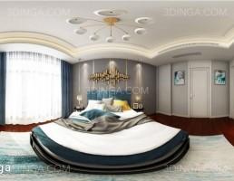 صحنه داخلی اتاق خواب به سبک پاروناما