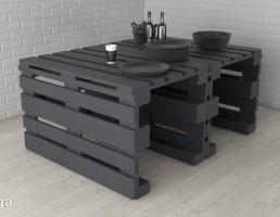 میز غذای چوبی