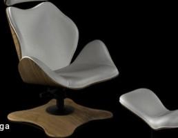 صندلی راحتی مدرن + جلو پایی
