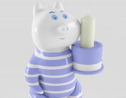 شمع + شمعدان عروسکی