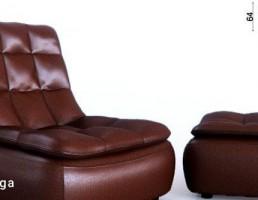 صندلی راحتی + پاف چرمی