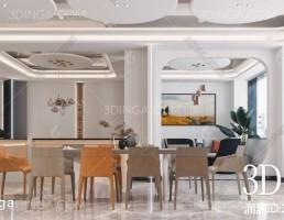 صحنه داخلی رستوران مدرن