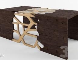 میز قهوه چوبی