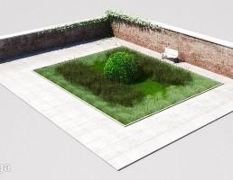 فضای سبز + درختچه های باغ