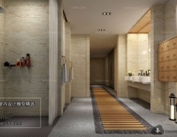 صحنه داخلی حمام آسیایی