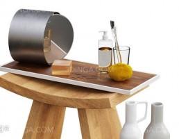 صندلی چوبی + وسایل حمام