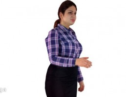 کاراکتر زن ایستاده-low poly
