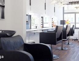 نمای داخلی آرایشگاه