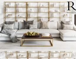 ست کاناپه راحتی + قفسه چوبی